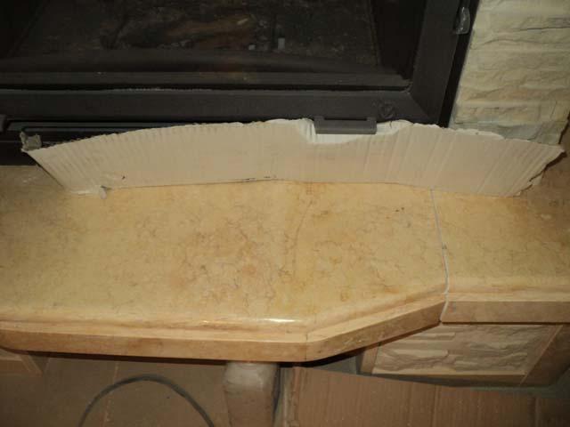 мраморная облицовка камина