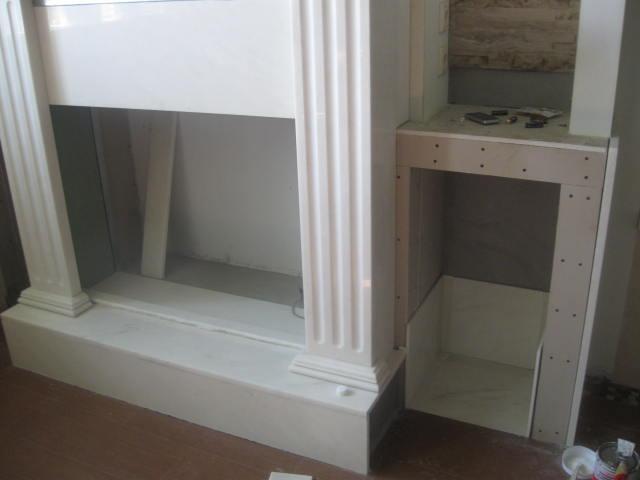 облицовка мраморной плиткой внутренних и внешних стенок