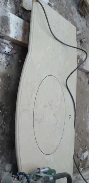 изготовление столешниц из мрамора Крема нова экстра