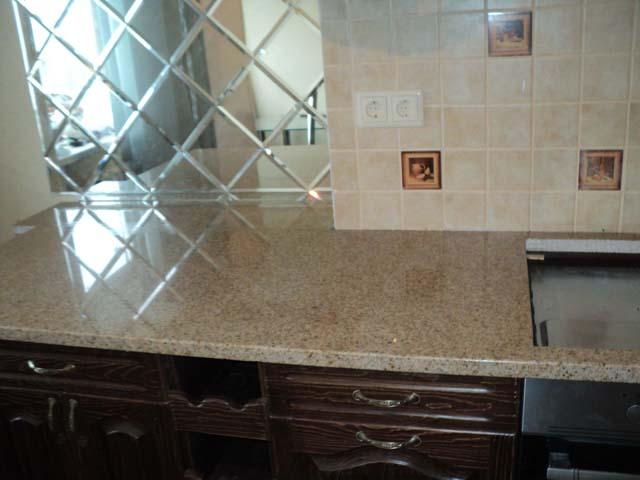 монтаж установка столешниц из гранита на кухонный гарнитур